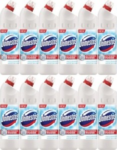Domestos Whit Shine Żel do WC 1250ml 12 sztuk